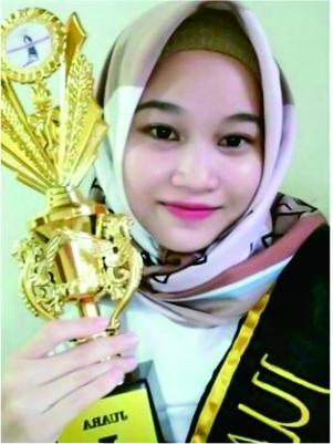 """Mahasiswi Akuntansi UBL mendapatkan Juara di """"Beauty with Hijab"""""""